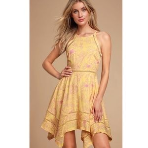 Lulu's Bahama Mama Floral Handkerchief Dress XL